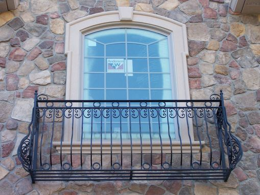 Custom Made Pre-Hung Wrought Iron Romeo & Juliet Balcony