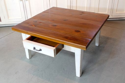 Custom Made Rustic Square Farmhouse Coffee Table
