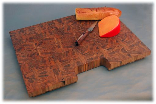 Custom Made End-Grain Ambrosia Maple Cutting Board (Butcher Style)