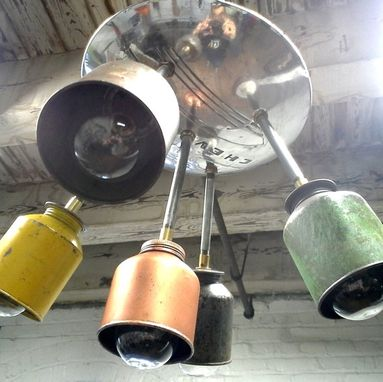 Custom Made Dieselpunk Sputnik Chandelier Or Pendant Ceiling Fixture