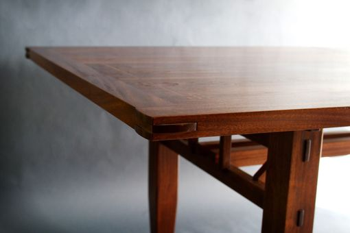 Custom Made Walnut And Sapele Dining Table