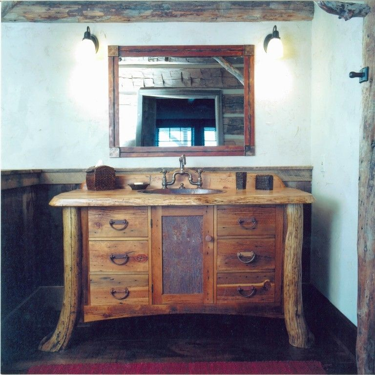 Buy A Custom Montana Rustic Bath Vanity Made To Order