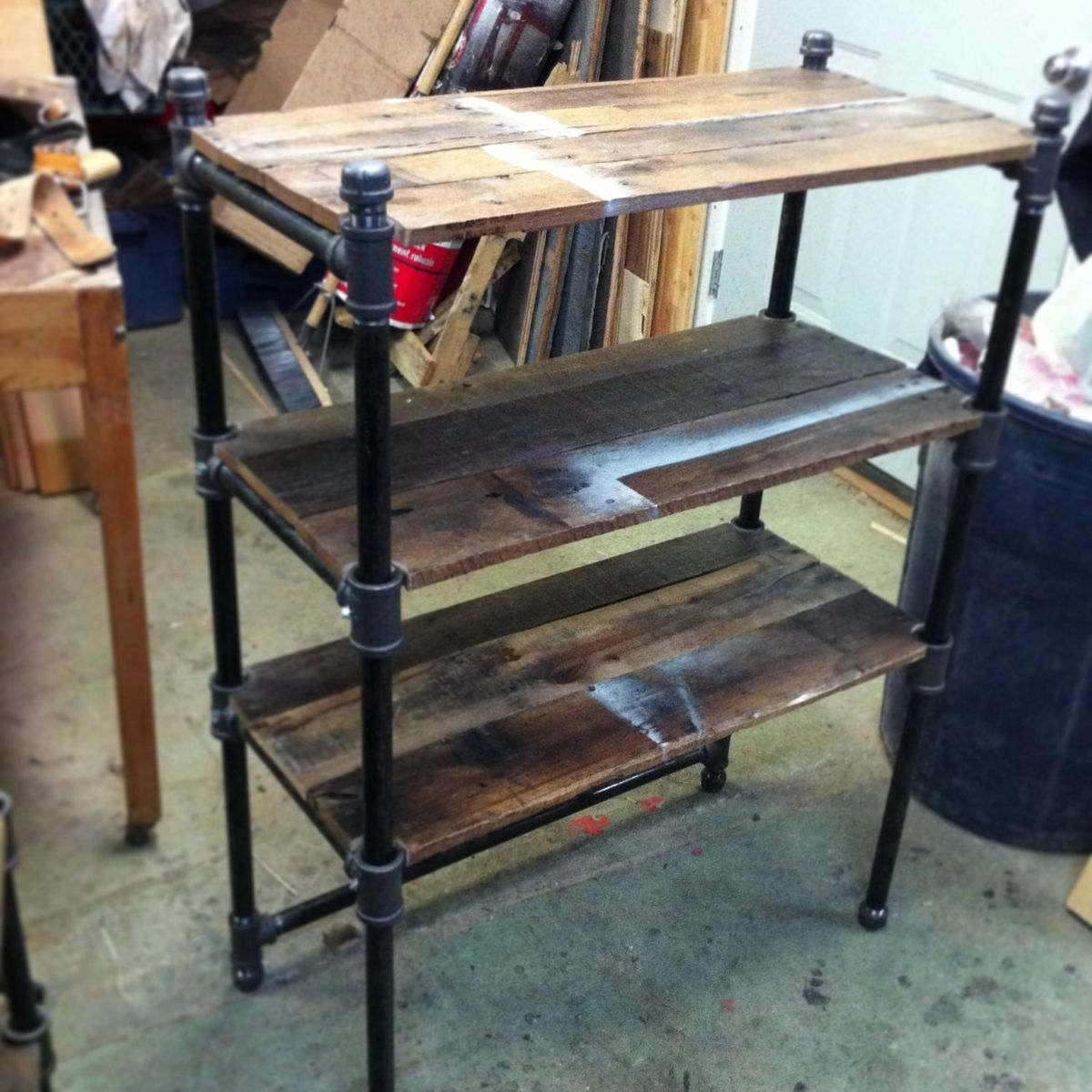 iron pipe furniture. Iron Pipe Furniture. Custom Made Pair Of Reclaimed Oak And Industrial Cast Shelves Furniture C