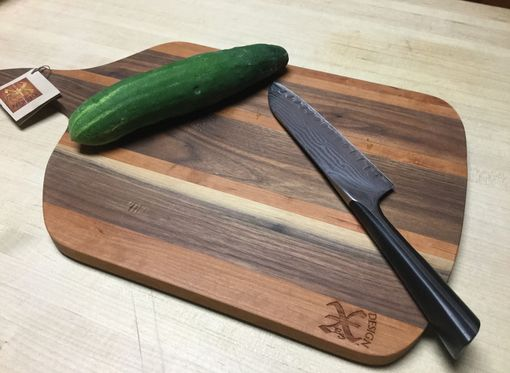Custom Made Black Walnut And Cherry Handmade Cutting Board
