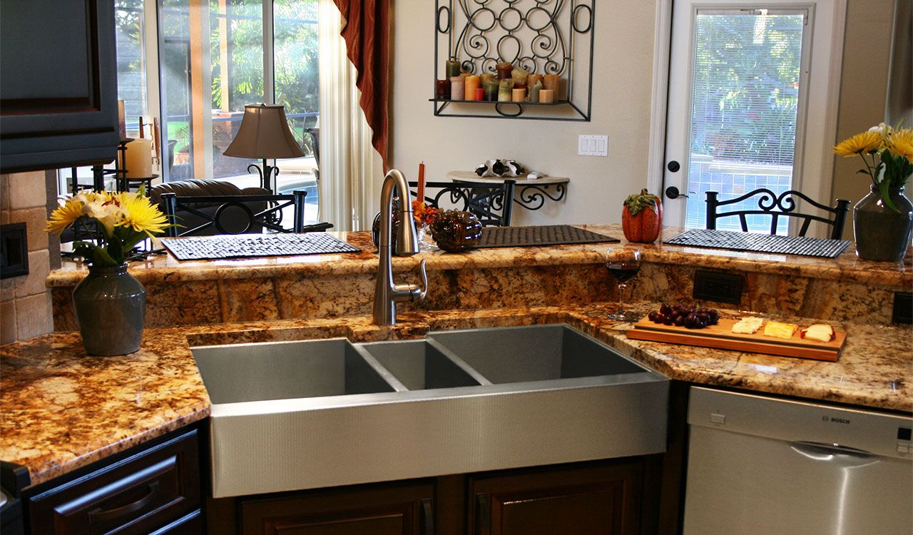 Hand Made Custom Stainless Steel Triple-Bowl Sink by Havens ...