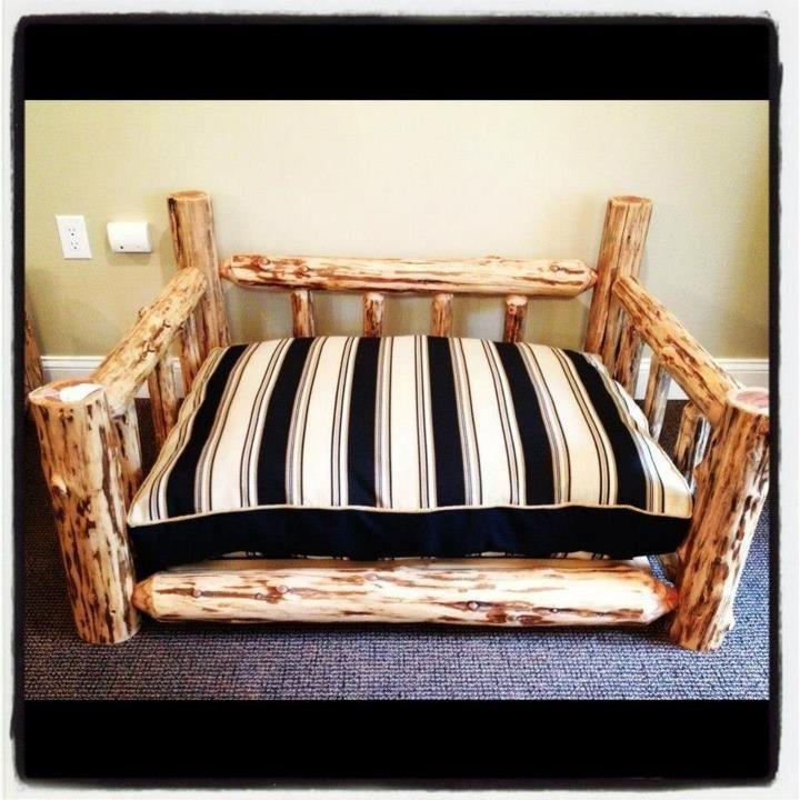 Handmade Pre Fallen Timber Cedar Log Dog Bed By Natural