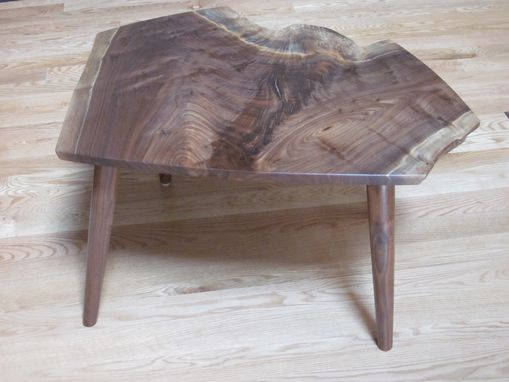 Custom Made Natural Edge Walnut End Table