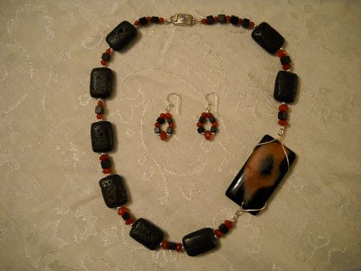 Custom Made Asymetrical Dyed Agate Necklace