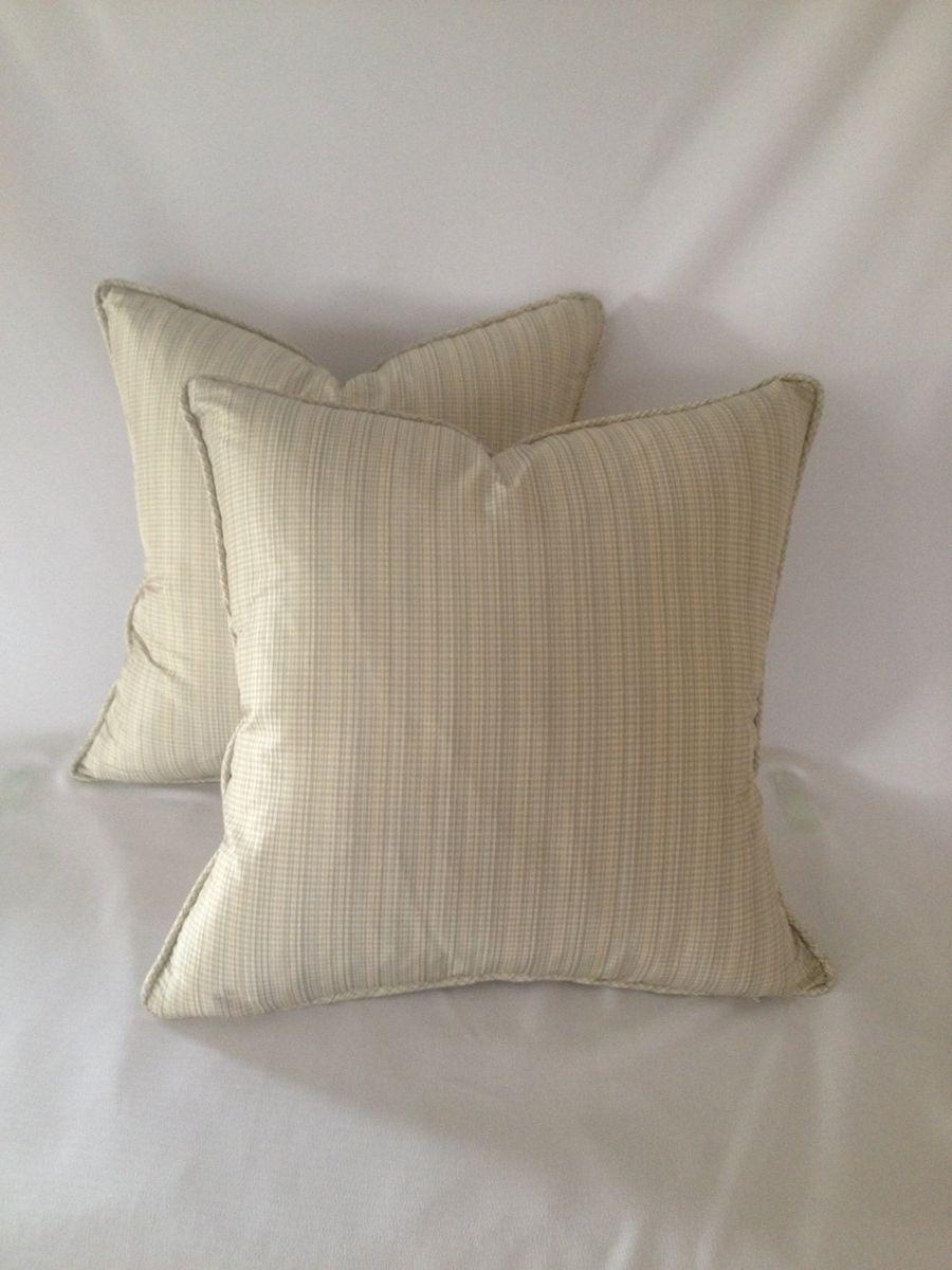 Handmade Set Of 2 Light Mint Brown And Cream Silk