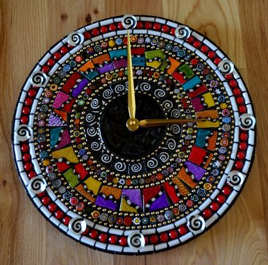 Custom Made Razzle Dazzle Mosaic Clock