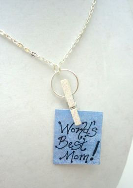 Custom Made Personalized Changeable Message Clothes Pin Gift Necklace