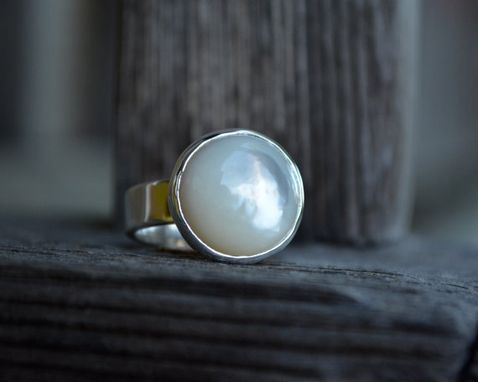 Custom Made Mother Of Pearl Ring 14mm