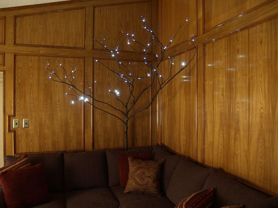 Custom Made Red Bud Branch Floor Lamp By David L. Zvanut