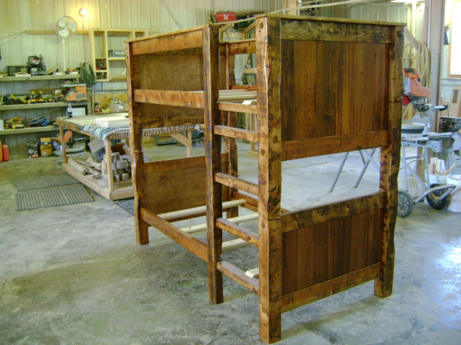 Hand Made Twin On Twin Reclaimed Barnwood Bunk Bed By Ireland S Wood