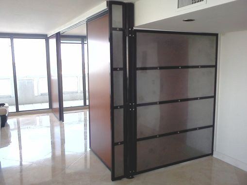 Custom Made Metal Door, Divider, Sliding Panels
