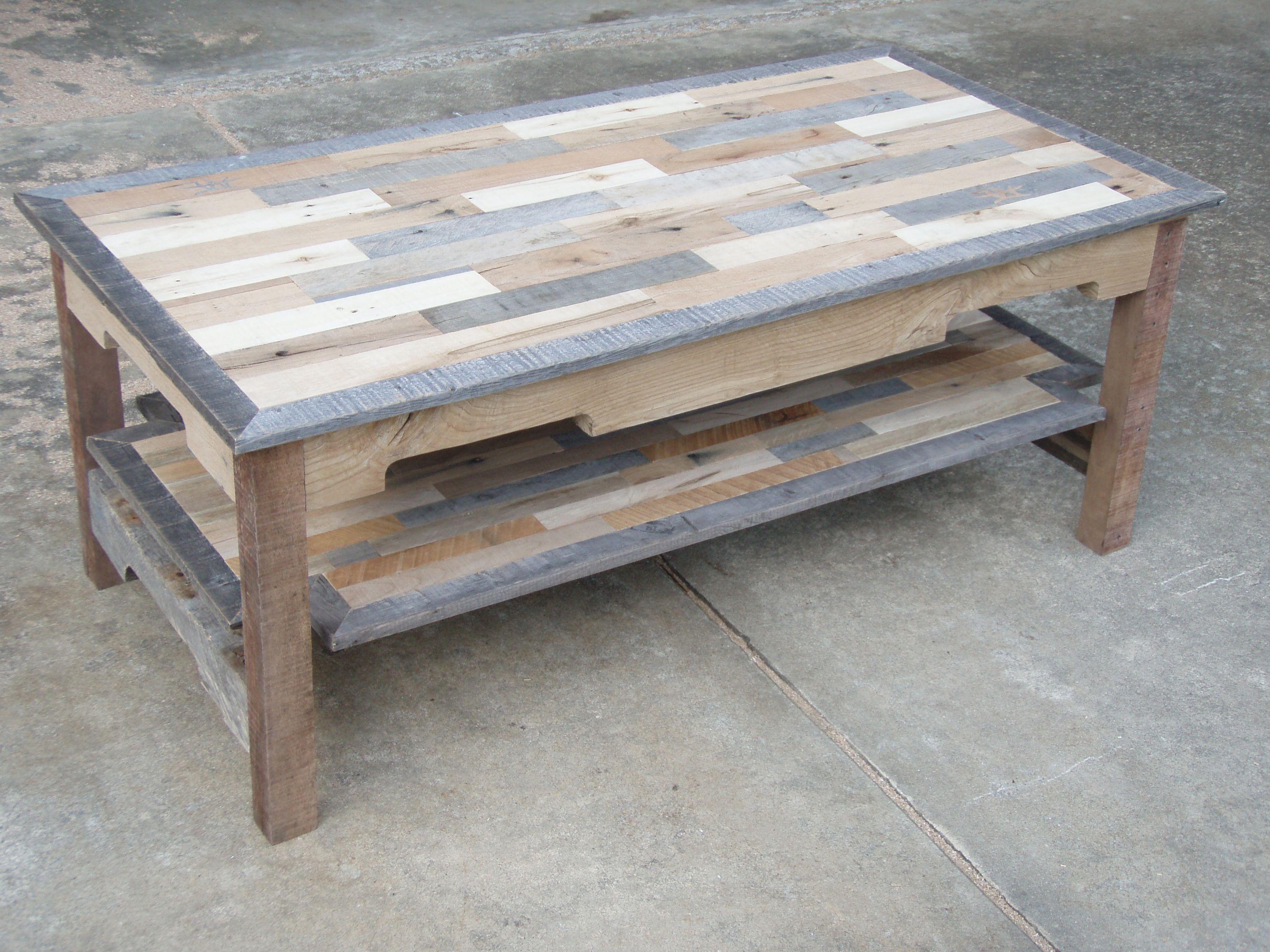 Custom Made Reclaimed Pallet Wood Coffee Table