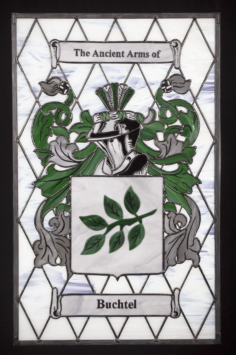Hand Made Coat Of Arms Stained Glass Window By Painted