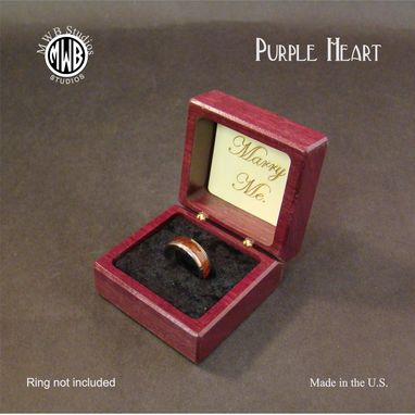 Custom Made Inlaid Engagement Ring Box With Free Engraving And Shipping. Rb-2