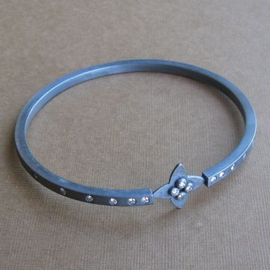 Custom Made Shooting Star Bangle With Czs