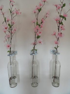 Custom Made Wall Mounted Wine Bottle Vases