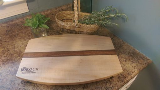Custom Made Hand Made Maple And Mahogany Cutting Board
