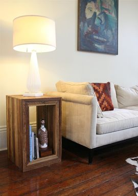 Custom Made The Barracks Table Modular End Tables, Nightstands, Made From Reclaimed New Orleans Wood