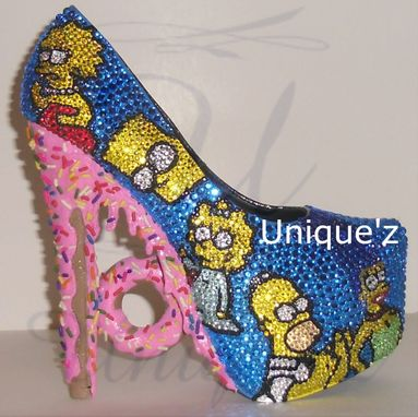 Custom Made The Simpsons Heels (3d Homer's Donut)