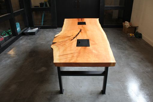 Custom Made Live Edge Cherry Conference Table