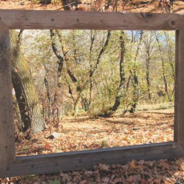 hand crafted bunkhouse barnwood mirror with nailhead tacks reclaimed wood by my barnwood frames custommadecom - My Barnwood Frames