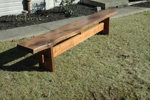 Custom Made Walnut Live Edge Bench