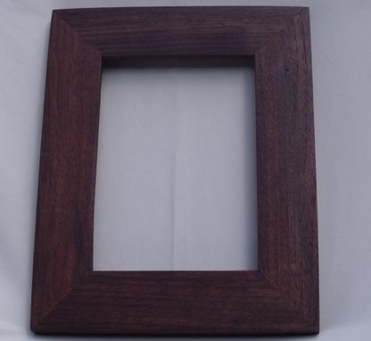 Custom Made Recycled 5x7 Walnut Picture Frame