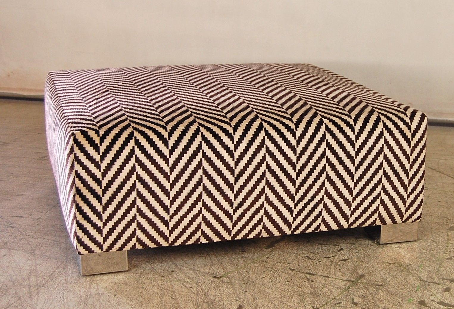 handmade contemporary ottoman by pacific mfg co  custommadecom - custom made contemporary ottoman