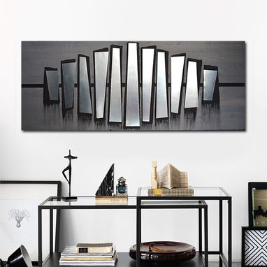Custom Made Fierce Parallel 60x24 - Wood Wall Art, Metal Wall Art, Modern Wall Art, Wall Decor, Abstract Art