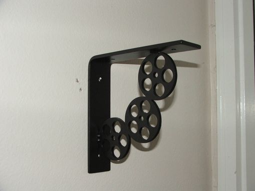 Custom Made Movie Reel Shelf Bracket