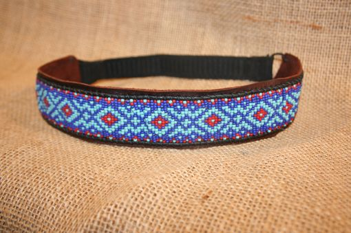 Custom Made Turquoise And Red Head Band