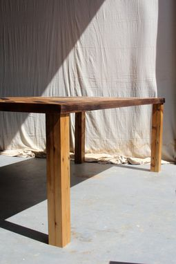 Custom Made Rustic Reclaimed & Sustainably Harvested Wood Kitchen Farm Table