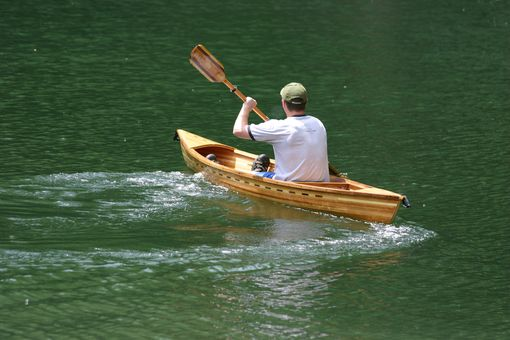 Custom Made The Pere Marquette, Cedar Strip Solo Canoe
