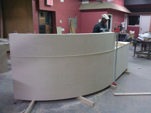 Custom Made Reception Desk Semi Round