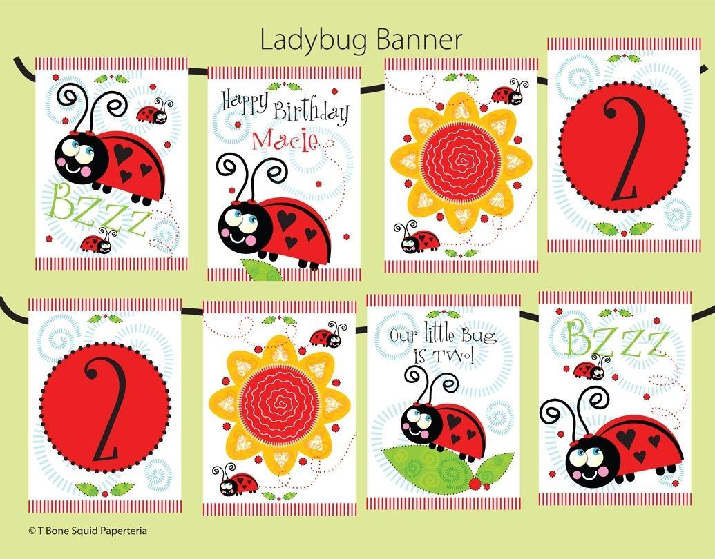 Handmade Lady Bug Birthday Party Invitation by T-Bone Squid ...