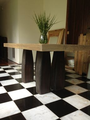 Custom Made One Of A Kind Four Column 5 Foot Table