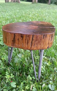 Custom Made Wooden Plant Stand, Side Table, Stool, Organic Furniture, Industrial Table, Round Table, Drink Stand