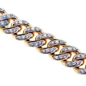 10k Yellow Gold Diamond Miami Cuban Link Mens Chain 7 Mm 28 Inches By Eugene Lip