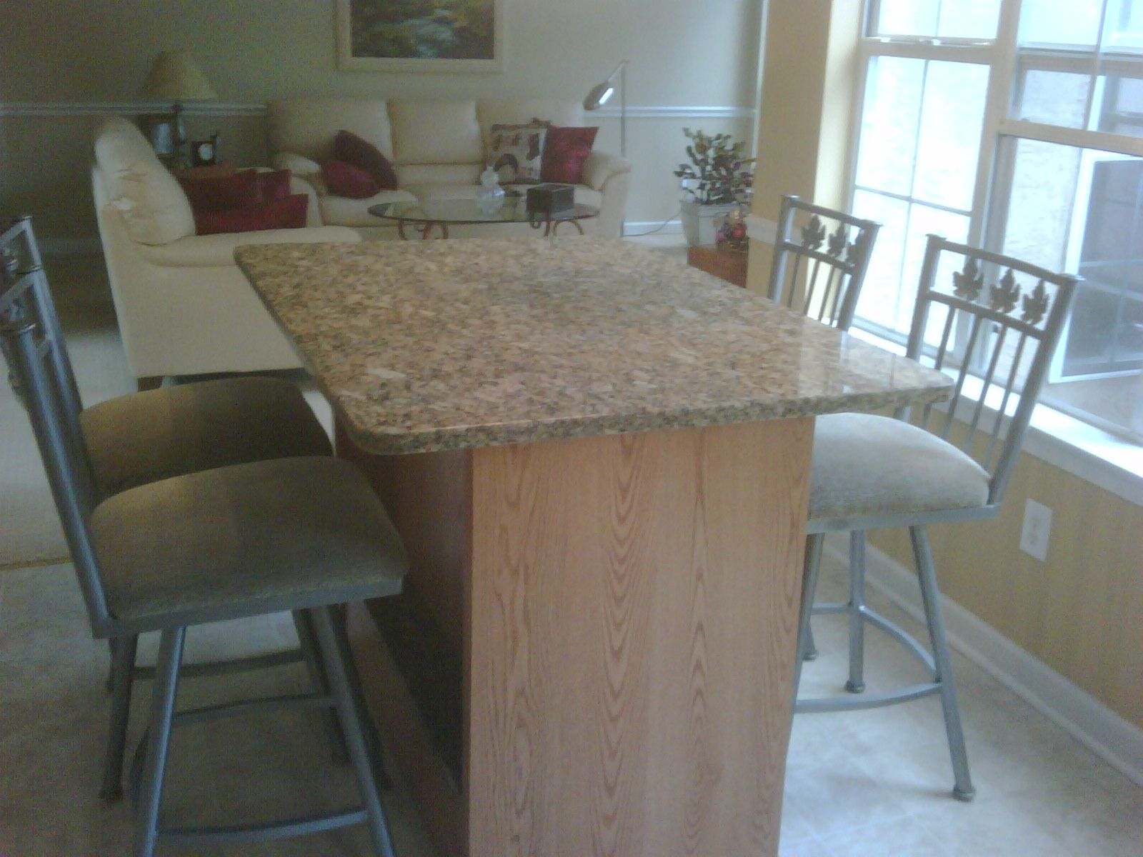 Buy a Custom Made Kitchen Table- Oak And Granite, made to ...