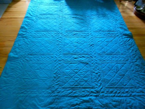 Custom Made Reverse Cathedral Windows Quilt