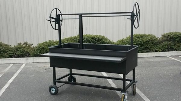 Hand Crafted 60x28 Santa Maria Bbq Pit Grill By JD