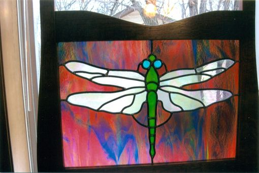 Custom Made Dragonfly Stained Glass