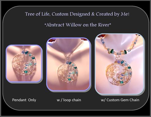 Custom Made Wife Gift,Mother Gift,Mother Jewelry,Push Jewelry,Birthstone Jewelry,Family Tree,Willow Tree,River
