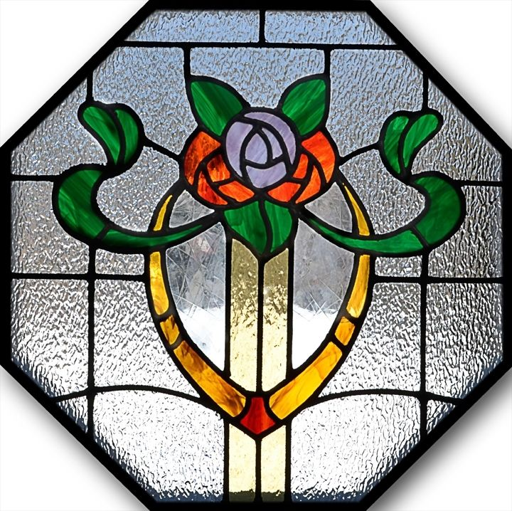 Custom Octagon Stained Glass Window By Bc Studios