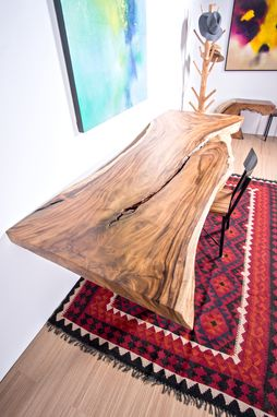 Custom Made Live Edge Wood Slab Table - Perfect For Conference Table / Large Dining Table