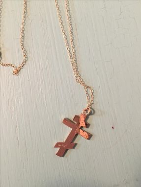 Custom Made 14 Karat Yellow Gold Filled Eastern Orthodox Cross